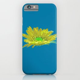 Yellow Petal On Blue iPhone Case