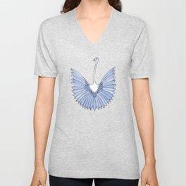 Lovebirds - Blue Unisex V-Neck