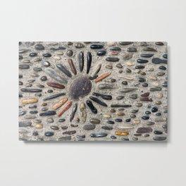 Stones in the street in Saint-Paul de Vence in France Metal Print
