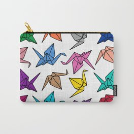 Origami Cranes Colorful Palette Carry-All Pouch