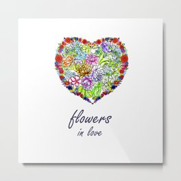 Flowers in Love #Artlove Metal Print