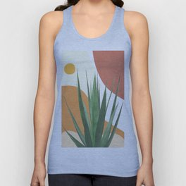 Abstract Agave Plant Unisex Tank Top