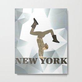 Gymnastics New York Metal Print
