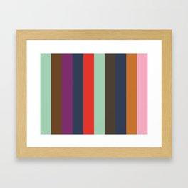 ASPIRATION : Aquamarine, Sepia, Purple, Indigo, Red, Aquamarine, Taupe, Indigo, Ochre,Nadeshiko Pink Framed Art Print