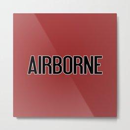 Airborne (Airborne Red) Metal Print