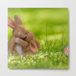 Easter Bonny   Lapin de Pâques Metal Print