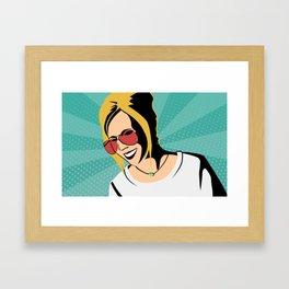 Girl in Sunglasses - Pop Art Framed Art Print
