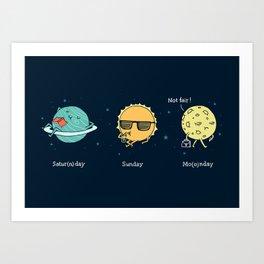 Moonday Art Print