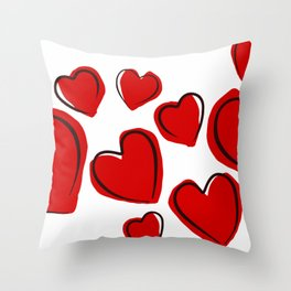 Valentine Hearts Love Romance Holidays. Throw Pillow
