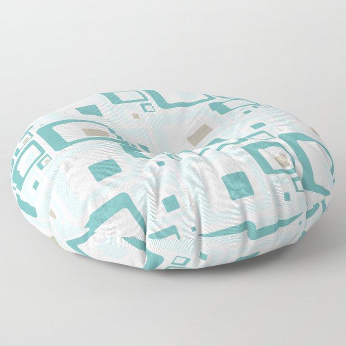 Retro Squares Mid Century Modern Background Floor Pillow