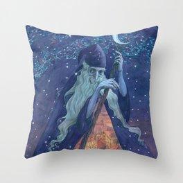 Old Man Night Throw Pillow