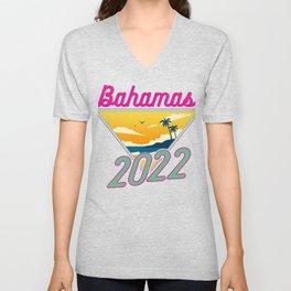 Bahamas Vacation 2022 Fun Vacation Traveler Gift Unisex V-Neck