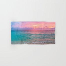 Aerial Photography Beautiful: Turquoise Sunset Relaxing, Peaceful, Coastal Seashore Hand & Bath Towel
