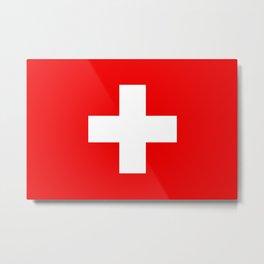 Flag of Switzerland - Swiss Flag Metal Print