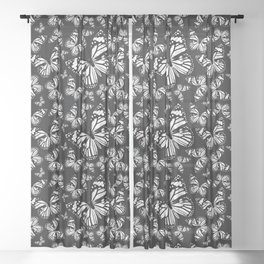 Monarch Butterflies   Monarch Butterfly   Vintage Butterflies   Butterfly Patterns   Black and White Sheer Curtain