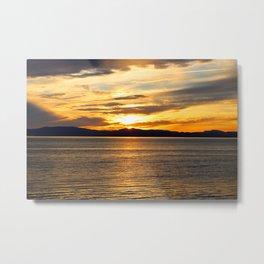 The Golden Sunset Over Quebec Metal Print