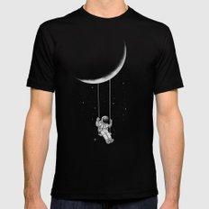Moon Swing Black MEDIUM Mens Fitted Tee
