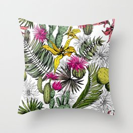 Tropical pattern Throw Pillow