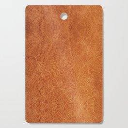 Farmhouse Style Original Camel Leather Oriental Design. Cutting Board
