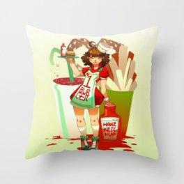 Hanz Ketchup Throw Pillow