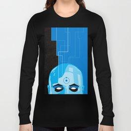 Doctor Manhattan in Blue Long Sleeve T-shirt