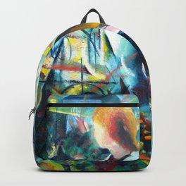 """August Macke """"Two Girls"""" Backpack"""