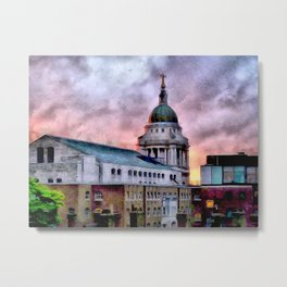 Old Bailey in London Metal Print