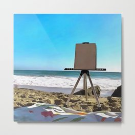 Paint On The Beach Metal Print