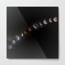 Super Blood Moon Eclipse Metal Print
