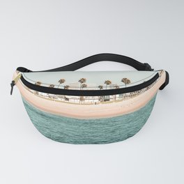 Vintage Newport Beach Print {1 of 4} | Photography Ocean Palm Trees Teal Tropical Summer Sky Fanny Pack