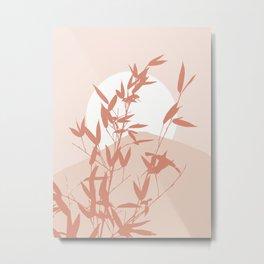 Pink nature landscape art Metal Print