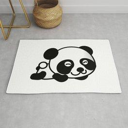 Happy Panda Bear Napping Rug