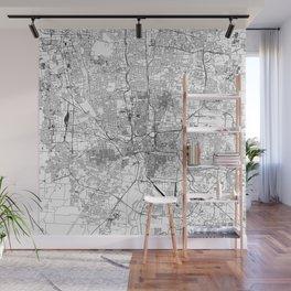 Columbus White Map Wall Mural