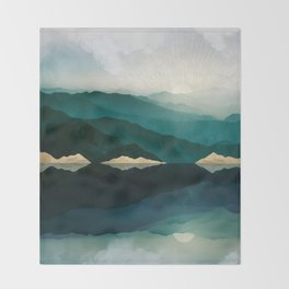 Waters Edge Reflection Throw Blanket