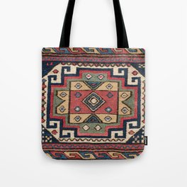 Cowboy Sumakh // 19th Century Colorful Red White Blue Western Lone Star Dallas Ornate Accent Pattern Tote Bag