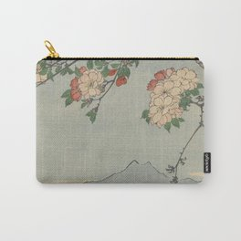 Cherry Blossoms on Spring River Ukiyo-e Japanese Art Carry-All Pouch