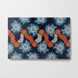 Aboriginal Art Authentic - The Journey Metal Print