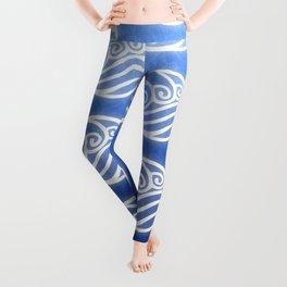 Avatar Water Bending Element Symbol Leggings
