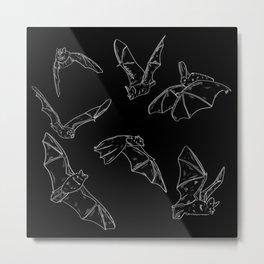 Flying Bats Pattern Metal Print