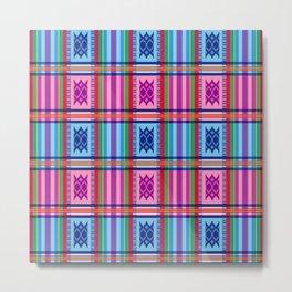 Ethno Buginese Sabbe Pattern 03 Metal Print