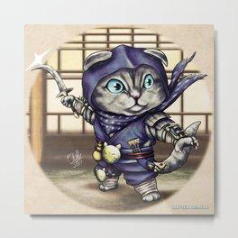 Shinobi Kitten Metal Print