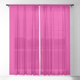 Fuschia Pink Sheer Curtain