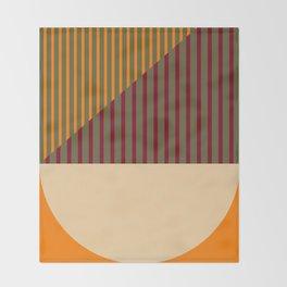 Geometric Abstract - Spring-Pantone Warm color Throw Blanket