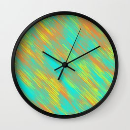 green blue orange and yellow painting texture abstract background Wall Clock