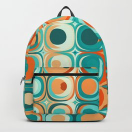 Orange and Turquoise Dots Backpack