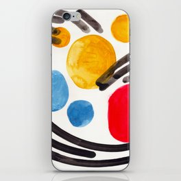 Mid Century Modern Abstract Juvenile childrens Fun Art Primary Colors Watercolor Minimalist Pop Art iPhone Skin