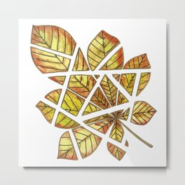 Chestnut leaf Metal Print