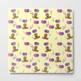 Teddy for girls with balloons Metal Print