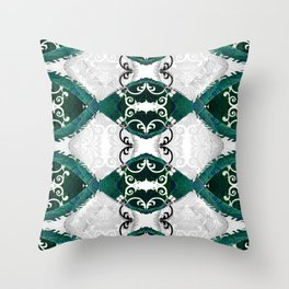 Resonant Jade Chamber of the Mind Throw Pillow