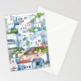Panorama of Lindos Stationery Cards